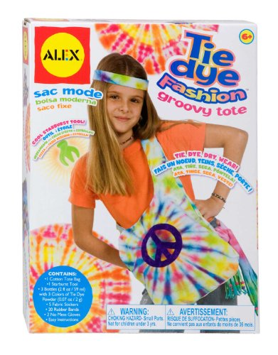 ALEX Toys Do-it-Yourself Wear Tie Dye Fashion Groovy Tote