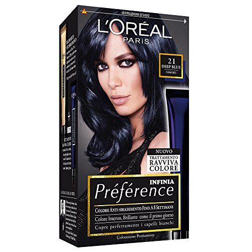 L'Oréal Paris Préférence Colore Permanente, 21 Black Pearls Deep Blu
