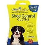 FURminator Dog Shed Control Cloths, 12-Count