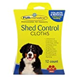 FURminator 104027 Dog Shed Control Cloths, 12-Count