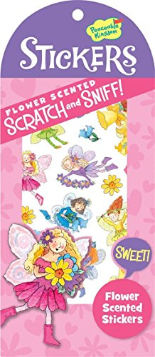 Peaceable Kingdom Scratch and Sniff Flower Scented Sticker Pack