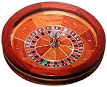 Hot Sale Trademark Poker 27-Inch Wood Roulette Wheel