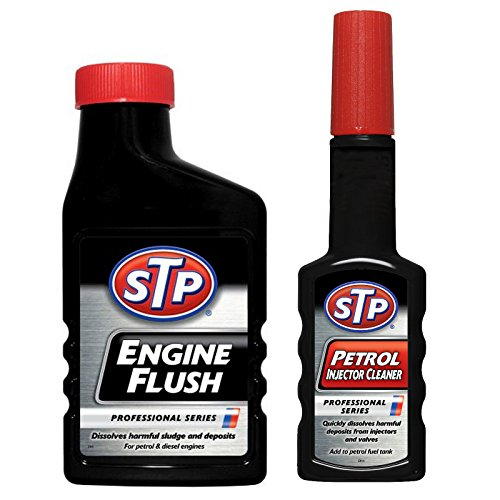 stp-professional-series-engine-flush-450ml-petrol-injector-cleaner-200ml-set