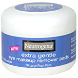 Neutrogena Eye Makeup Remover Large Plush Pads Extra Gentle 30 Count (Pack Of 2)