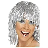 Smiffy's Cyber Tinsel Wig (Silver)
