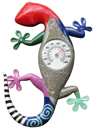 Company's Coming THM-088 Indoor/Outdoor Gecko Thermometer with 3-Inch Bi-metal Thermometer