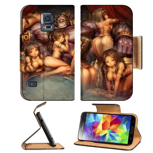 Boobs Video Games Fantasy Art Artwork Samsung Galaxy S5 Sm-G900 Flip Cover Case With Card Holder Customized Made To Order Support Ready Premium Deluxe Pu Leather 5 13/16 Inch (148Mm) X 2 1/8 Inch (80Mm) X 5/8 Inch (16Mm) Msd S V S 5 Professional Cases Acc