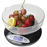 Smart Weigh CSB5KG Digital Multifunction Kitchen and Food Scale 2Kg x 0.1-Gram, Bowl Included