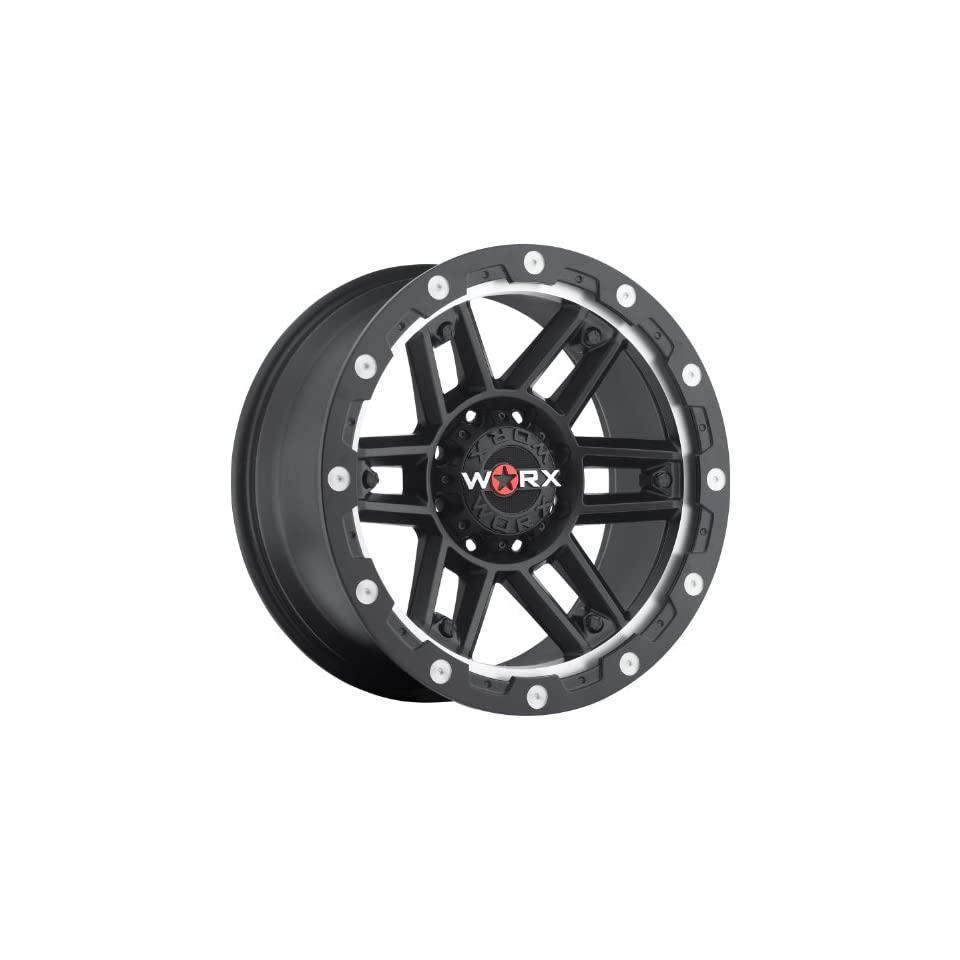 Worx Tank 20 Black Wheel / Rim 8x6.5 with a  12mm Offset and a 125.2 Hub Bore. Partnumber 804 2981SB12