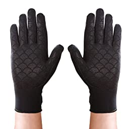 Thermoskin Full Finger Arthritis Gloves, Black, Medium