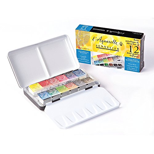 Sennelier Watercolor Metal Bx 12 Half Pan Set (Watercolor Pans compare prices)