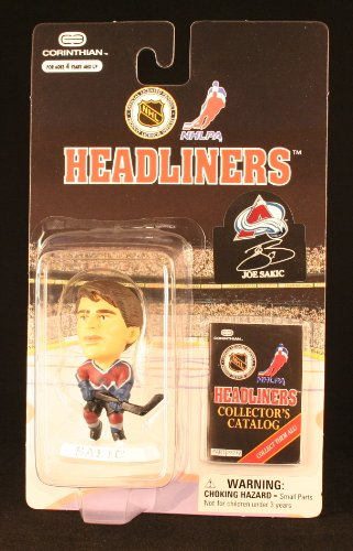 JOE SAKIC / COLORADO AVALANCHE * 3 INCH * 1997 NHL Headliners Hockey Collector Figure - 1