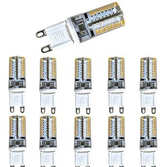 10er Set G9 Silica V2 3W LED Warmweiß 3200K