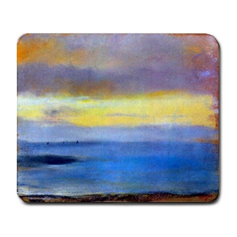 Coastal Strip at Sunset By Edgar Degas Mouse Pad