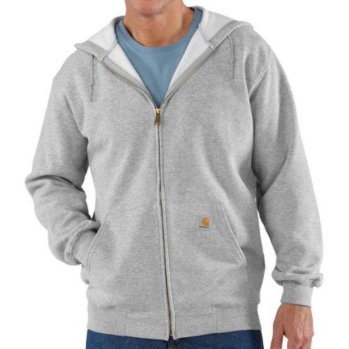 Carhartt Midweight Hooded Zip Front Sweatshirt Heather Grey M,L,XL,XXL Mens