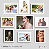 "9 Pc White Photo Frame Wall Collage, 1Pc 8"" X 10"", 8Pc 5"" X 7"""