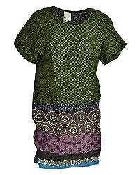 Beautiful Clothes Women's Loose Fit Dress(BCS 44_M,Multi-color,M )