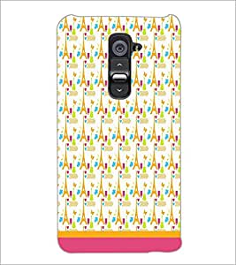 PrintDhaba Tower Pattern D-1806 Back Case Cover for LG G2 (Multi-Coloured)