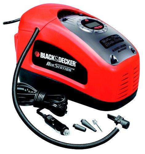 Black-Decker-Kompressor-11-bar-160-psi-digitale-Druckeinstellung-Kabelfcher-beleuchtete-Skala-ASI300