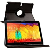 Galaxy Note 10.1 SM-P601 Case, Flip Cover 360 Degree Series PU Leather 360 Degree Rotating Flip Cover With Auto...
