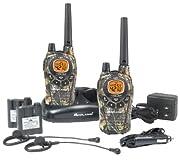 ミッドランド防水58キロ通話充電式トランシーバー2台1セット、充電機、2充電式電池、2ヘッドホン Midland GXT795VP4(並行輸入品)