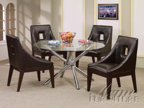 Cheap Acme 07965-67 Glass Top Dining Table Set (B0049MZ244)