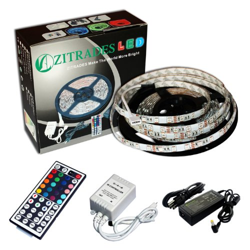 Zitrades 5M Waterproof Smd 5050 Rgb 300 Led 300Leds Strips Light 12V + 44 Key Ir Remote + Power By Zitrades