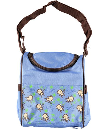 "Tender Kisses ""Lil' Monkey"" Insulated Bottle Bag - blue, one size - 1"