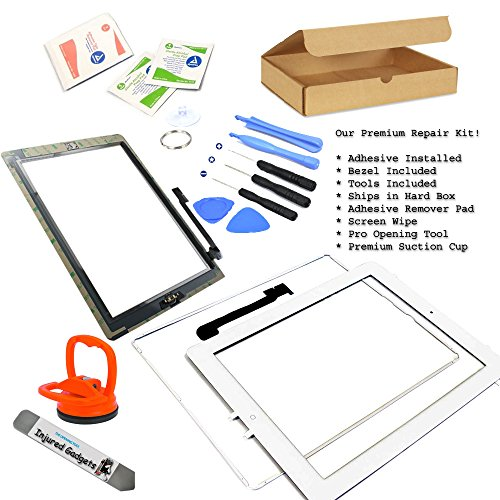 White Touch Screen Glass Digitizer Assembly With Spare Parts (Home Button, Flex Cable, Camera Bracket, Adhesive) For Ipad 3 3Rd Gen 3G Generation