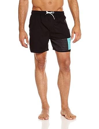 "Rip Curl Men Aggrobrash 16"" Volley Swim Shorts, Black, Small"