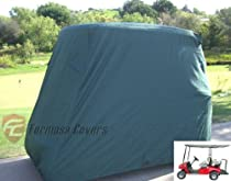 "Golf Cart Cover 4 Seater roof up to 80""L Green, fits EZGO, Club Car and Yamaha G/YDR model"