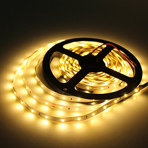 Tanbaby SMD 3014 LED Strip 300leds 60led/m,Non-Waterproof 1000 Lumens/Meter Led Tape Home Decoration Lamps warm white (Home Light 1000 Lumens Led compare prices)