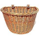 Colorbasket 01563 Adult Front Handlebar Wicker Bike Basket, Natural Color