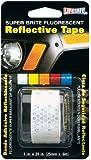Incom RE182 1-Inch by 24-Inch Super Brite Fluorescent Reflective Tape, Silver