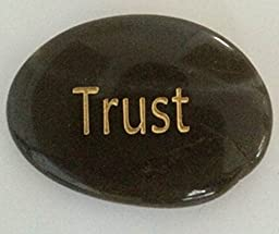 Trust Engraved Inspirational Stones Keepsakes Or Gifts To Family & Friends (New Words)
