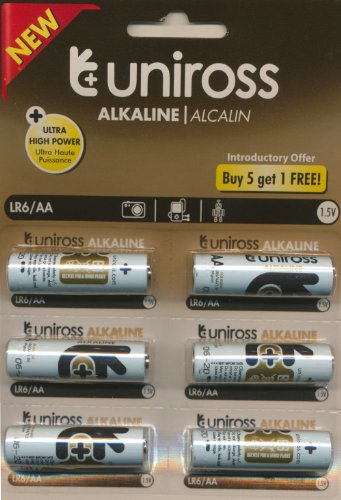 Uniross LR6/AA Alkaline Battery 1.5V (6Pack)
