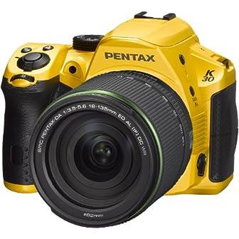 PENTAX デジタル一眼レフ K-30 18-135レンズキット シルキーイエロー(受注生産約2週間) K-30LK18-135 S-YE