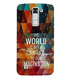 EPICCASE Imagination is creative Mobile Back Case Cover For LG K10 (Designer Case)