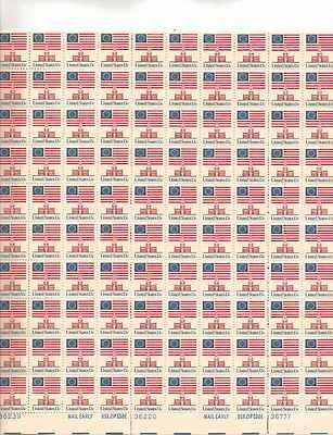 Independence Hall/US Flag Sheet of 100 x 13 Cent US Postage Stamps NEW Scot 1622