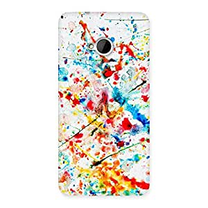 Special Paint Scribble Multicolor Back Case Cover for HTC One M7