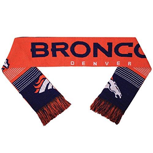 NFL Denver Broncos Reversible Split Logo Scarf, Blue