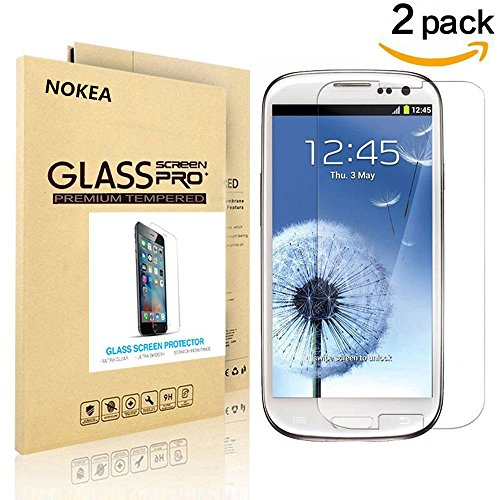 [2 PACK] Samsung Galaxy S3 Mini Screen Protector, NOKEA [9H Hardness] [Crystal Clear] [Easy Bubble-Free Installation] [Scratch Resist] Tempered Glass Screen Protector for Galaxy S3 Mini (for S3 Mini) (Sport Case Samsung S3 Mini compare prices)