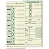 Tops 2-Sided 8 1/2 x 3 1/2 Inch Time Cards with Named Days 500 Pack (1291)