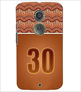 PrintDhaba Numerology Number 30 D-3666 Back Case Cover for MOTOROLA MOTO X2 (Multi-Coloured)