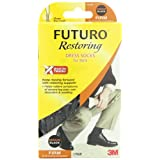 Futuro Restoring Men's Dress Socks, Black, Medium, Firm (20-30 mm/Hg)