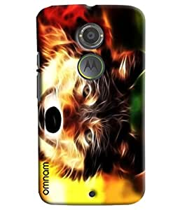 Omnam Dog Made Of Fire Printed Designer Back Cover Case For Moto X2