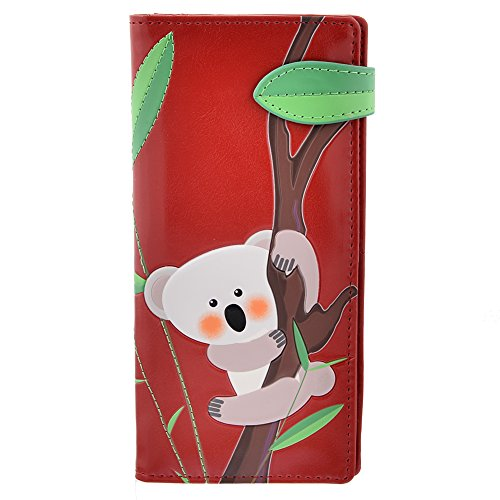 Shagwear Women's Large Wallet Koala Bear Red (Bear Wallet compare prices)