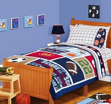 Sports Boys Baseball, Basketball, Football Full Comforter Set