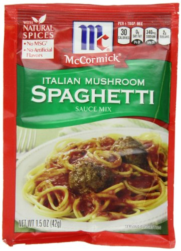 McCormick Spaghetti, Italian, 1.5 Ounce (Pack of 12) (Italian Mushrooms compare prices)