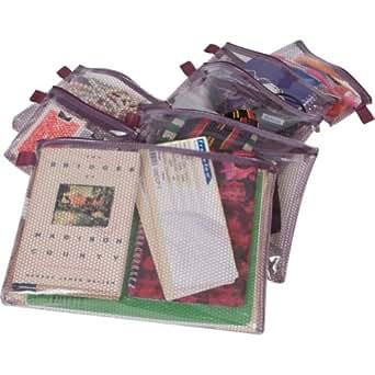 Travelon Luggage Set Of 7 Packing Envelopes, Black, One Size